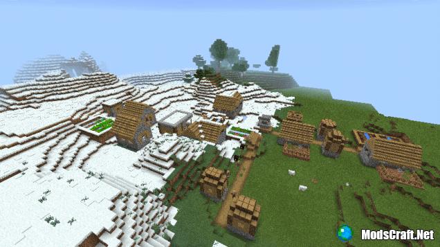 Деревня в снежном биоме [0.13.x]