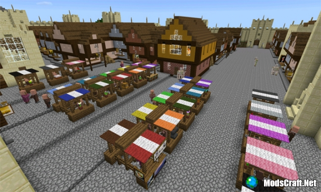 Карта Realistic Medieval Town