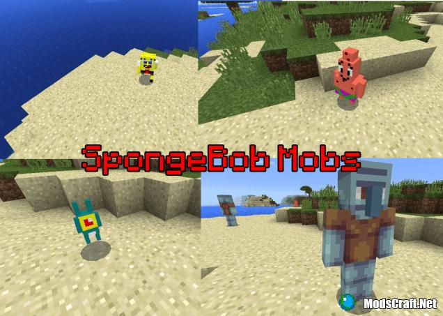Мод SpongeBob Mobs 0.13.1