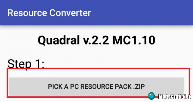 Resource Pack Converter для Android
