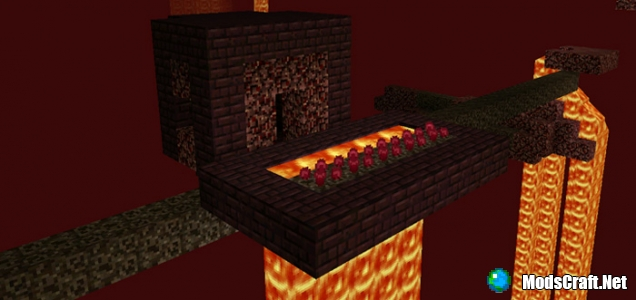 Мод Nether Villages 0.15.6/0.15.4/0.15.3