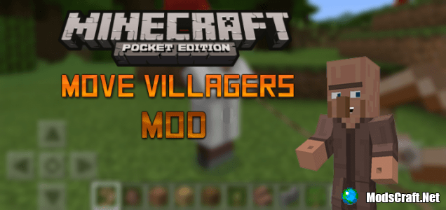 Аддон (мод) Move Villagers 0.16.0/0.15.3