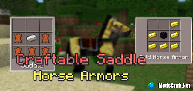 Мод Craftable Saddle & Horse Armors 0.15.6/0.15.4/0.15.3
