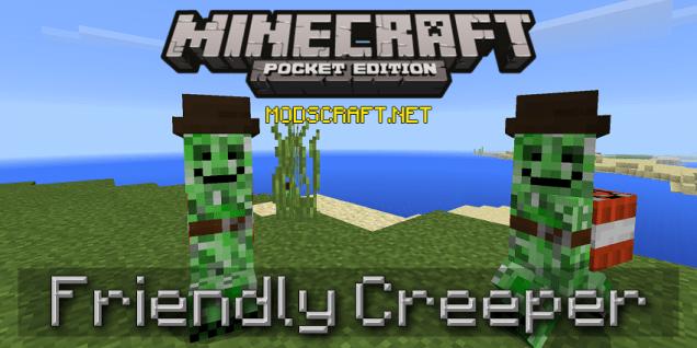 Мод Friendly Creeper 0.16.0