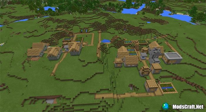 Четыре деревни возле спауна [0.16.x-0.17.0]