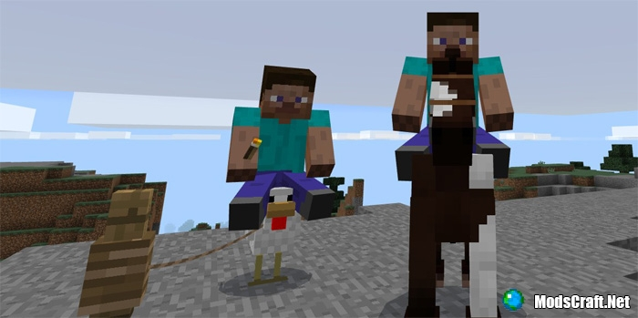 Мод Rideable Chickens 1.0/0.17.0/0.16.1