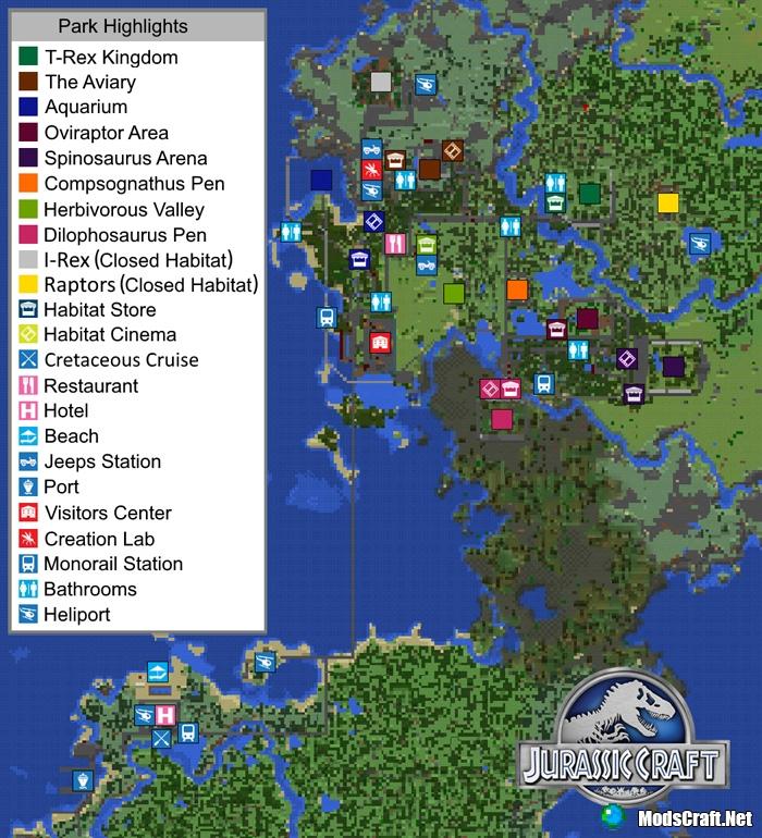Карта Jurassic Craft World [Карта-мод/Творчество]