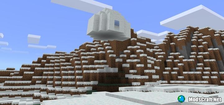 Парящая иглу и снежная деревня