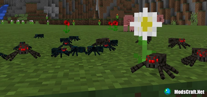 Мод Smaller Spiders 1.0/0.17.0/0.16.1