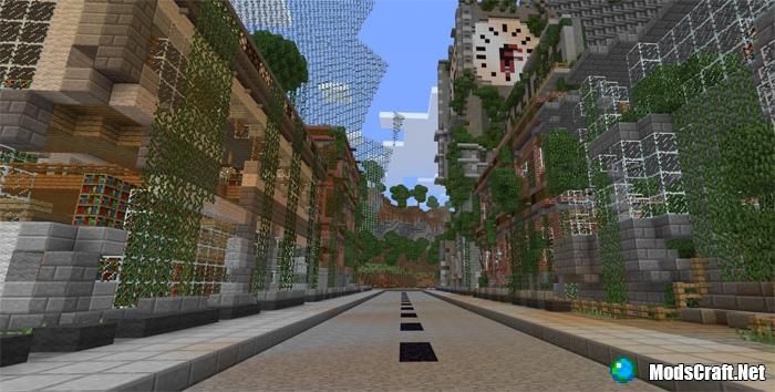 Карта заброшенный город для майнкрафт 1.7.10