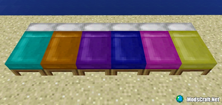 Minecraft PE 1.1: окрашенные кровати