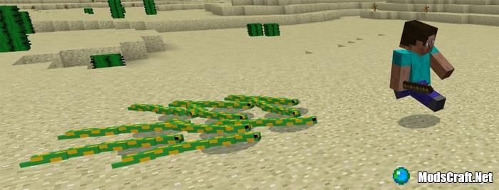 Мод Mine-Snakes 1.0