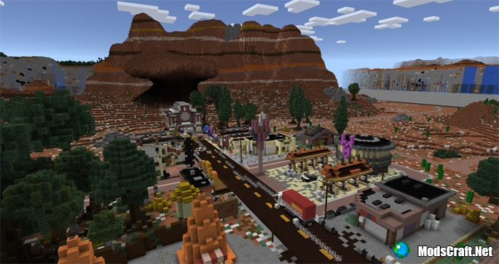 Карта Cars Land (Radiator Springs) [Творение]