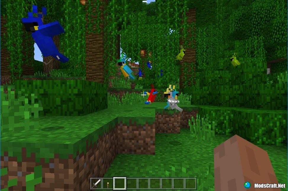 Minecraft PE 1.2: попугаи и танцы!