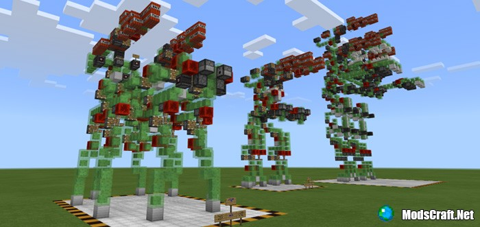 Карта New Slime Block Robots [Редстоун]