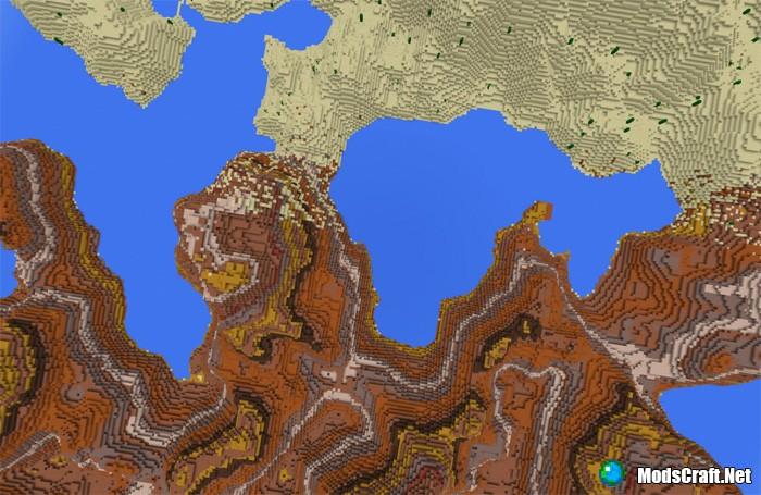 Карта The Lands of Notch [Пользовательский ландшафт]