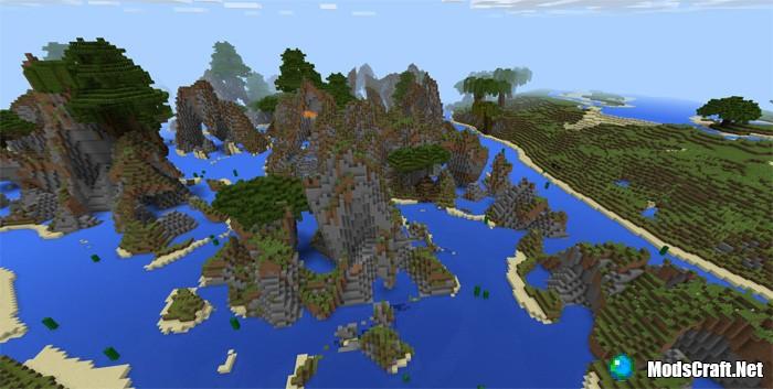 Карта Massive Custom Biomes [Пользовательский ландшафт]