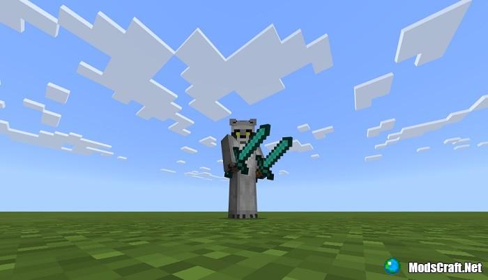 Как положить меч во вторую руку? [Гайды Minecraft PE]