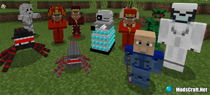 Мод Doctor Who Mobs Pack Addon 1.2/1.1
