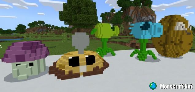Мод Plant VS Zombie Addon 1.2