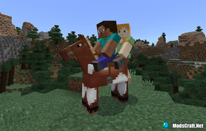 Мод 2 Player Horse Riding Addon 1.2