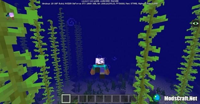 Анимация плавания в Minecraft 1.3!