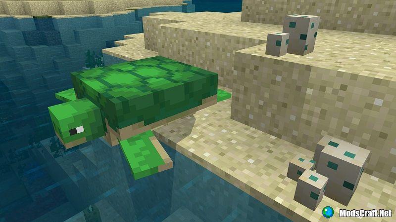 Minecraft 1.5.0.4 - черепахи!