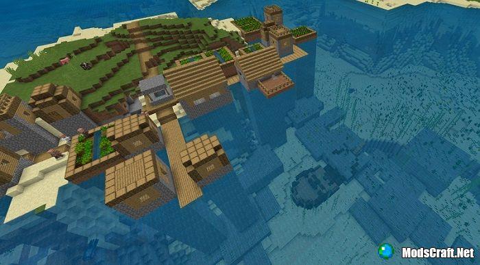 Деревня с крепостью и затонувшим кораблем [1.4]