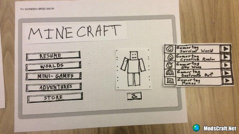 В Minecraft будет обновлено меню!