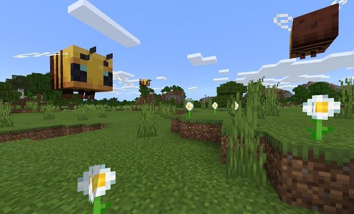 Пчёлы в Майнкрафт Бедрок (ПЕ)
