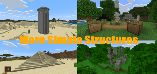 Мод Simple Structures 1.16+ [v3.2]