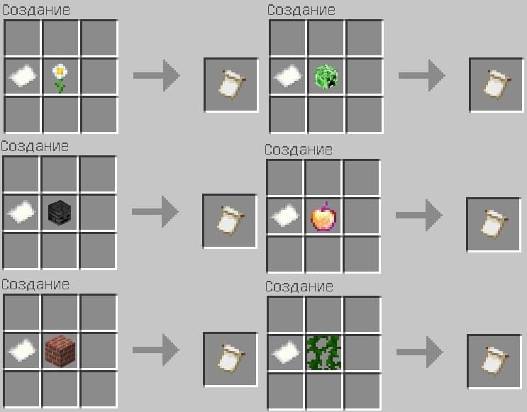 Шаблоны узоров в Minecraft