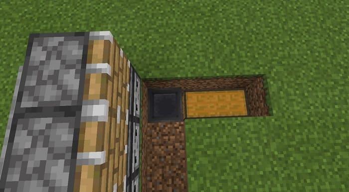 Разместите сундук возле схемы и воронку