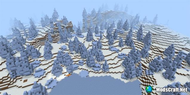 Как в майнкрафте сделать снежный биом